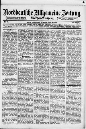 Norddeutsche allgemeine Zeitung vom 10.02.1883