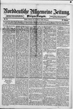 Norddeutsche allgemeine Zeitung vom 11.02.1883