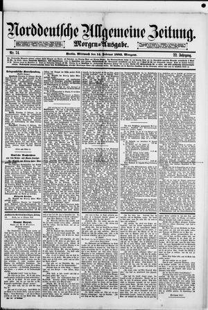 Norddeutsche allgemeine Zeitung vom 14.02.1883