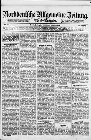 Norddeutsche allgemeine Zeitung vom 16.02.1883