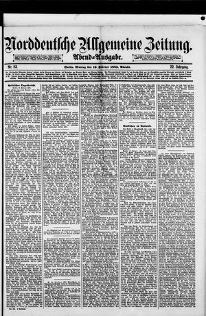 Norddeutsche allgemeine Zeitung vom 19.02.1883