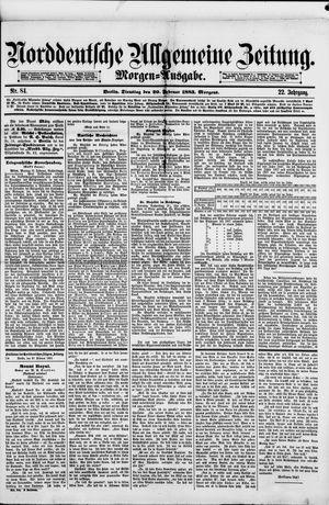 Norddeutsche allgemeine Zeitung vom 20.02.1883
