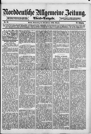 Norddeutsche allgemeine Zeitung vom 22.02.1883