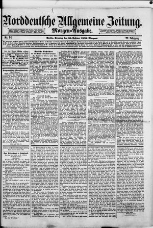 Norddeutsche allgemeine Zeitung vom 25.02.1883