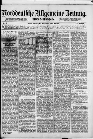 Norddeutsche allgemeine Zeitung vom 27.02.1883