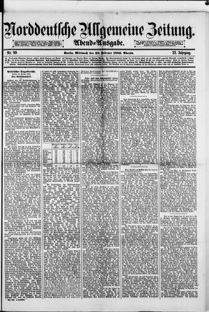 Norddeutsche allgemeine Zeitung vom 28.02.1883
