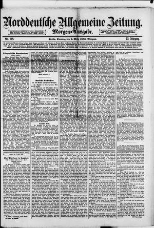 Norddeutsche allgemeine Zeitung vom 06.03.1883