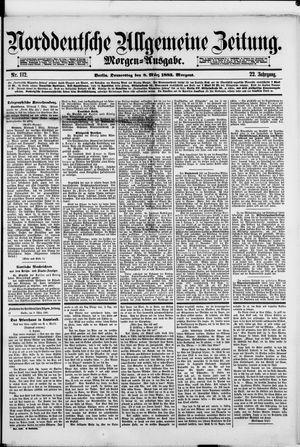 Norddeutsche allgemeine Zeitung vom 08.03.1883
