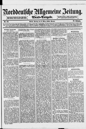 Norddeutsche allgemeine Zeitung vom 09.03.1883
