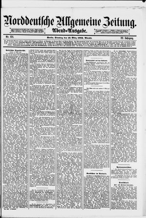 Norddeutsche allgemeine Zeitung vom 13.03.1883