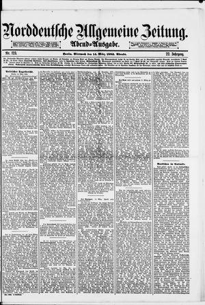 Norddeutsche allgemeine Zeitung vom 14.03.1883
