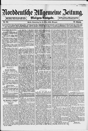 Norddeutsche allgemeine Zeitung vom 15.03.1883