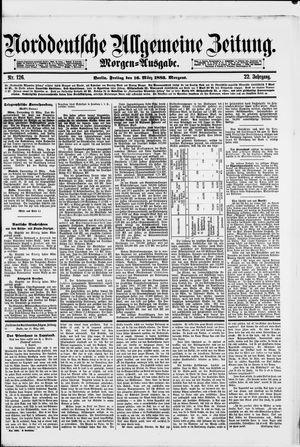 Norddeutsche allgemeine Zeitung on Mar 16, 1883