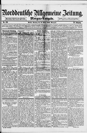 Norddeutsche allgemeine Zeitung vom 18.03.1883
