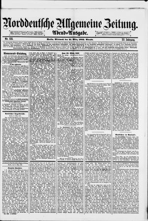 Norddeutsche allgemeine Zeitung vom 21.03.1883