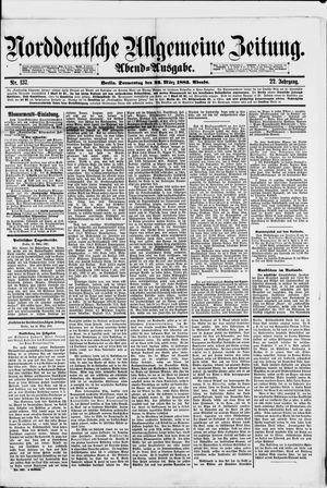 Norddeutsche allgemeine Zeitung vom 22.03.1883