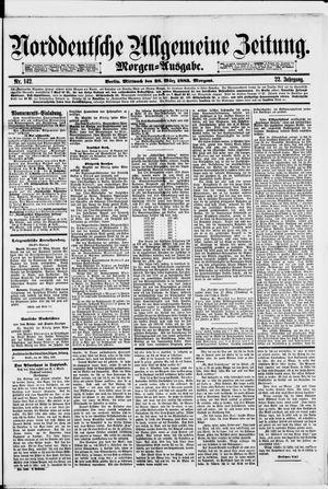 Norddeutsche allgemeine Zeitung vom 28.03.1883