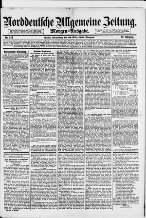 Norddeutsche allgemeine Zeitung on Mar 29, 1883