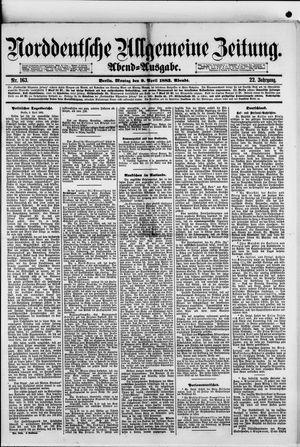 Norddeutsche allgemeine Zeitung vom 09.04.1883