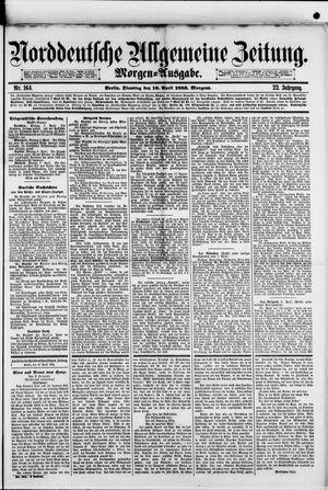 Norddeutsche allgemeine Zeitung on Apr 10, 1883