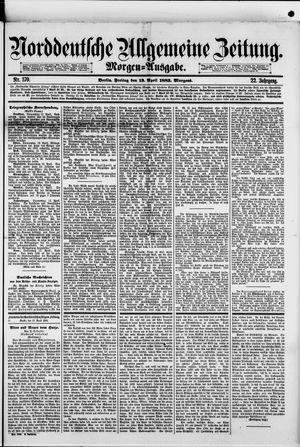 Norddeutsche allgemeine Zeitung vom 13.04.1883
