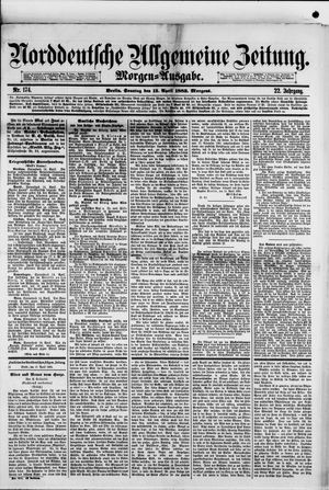 Norddeutsche allgemeine Zeitung vom 15.04.1883
