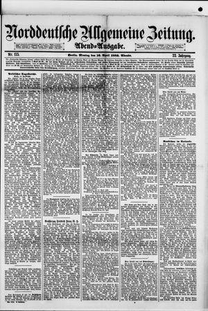 Norddeutsche allgemeine Zeitung vom 16.04.1883