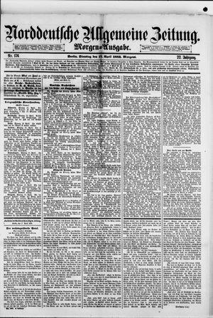 Norddeutsche allgemeine Zeitung vom 17.04.1883