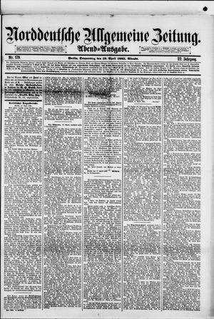 Norddeutsche allgemeine Zeitung vom 19.04.1883