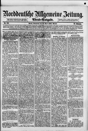 Norddeutsche allgemeine Zeitung vom 21.04.1883