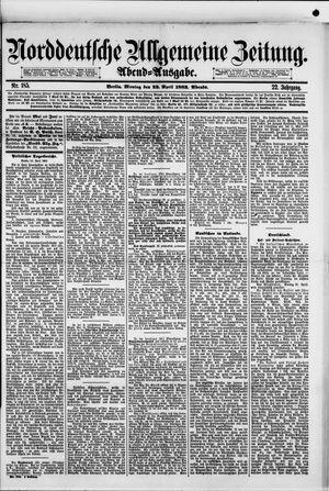 Norddeutsche allgemeine Zeitung vom 23.04.1883