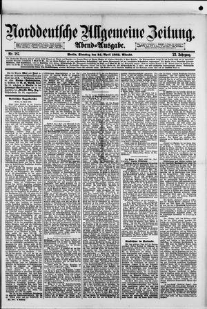 Norddeutsche allgemeine Zeitung vom 24.04.1883