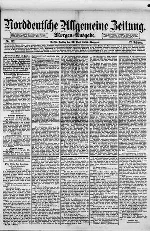 Norddeutsche allgemeine Zeitung vom 27.04.1883