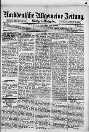 Norddeutsche allgemeine Zeitung vom 28.04.1883