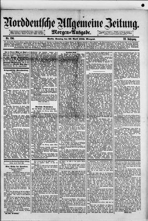 Norddeutsche allgemeine Zeitung vom 29.04.1883