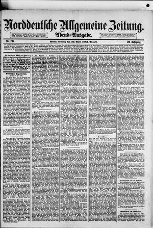 Norddeutsche allgemeine Zeitung vom 30.04.1883