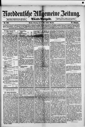 Norddeutsche allgemeine Zeitung vom 08.05.1883