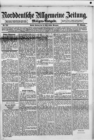 Norddeutsche allgemeine Zeitung vom 11.05.1883