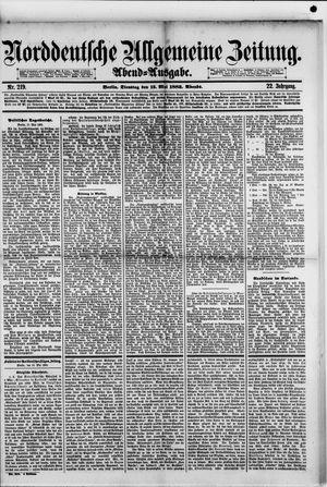 Norddeutsche allgemeine Zeitung vom 15.05.1883