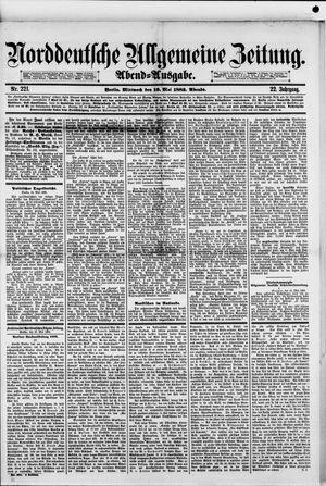Norddeutsche allgemeine Zeitung on May 16, 1883