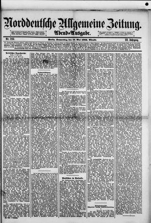 Norddeutsche allgemeine Zeitung vom 17.05.1883