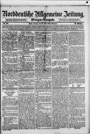 Norddeutsche allgemeine Zeitung vom 20.05.1883