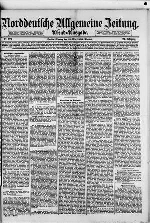 Norddeutsche allgemeine Zeitung vom 21.05.1883