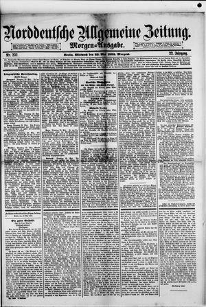 Norddeutsche allgemeine Zeitung vom 23.05.1883