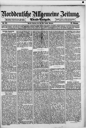 Norddeutsche allgemeine Zeitung vom 25.05.1883
