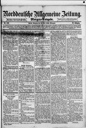 Norddeutsche allgemeine Zeitung on May 27, 1883