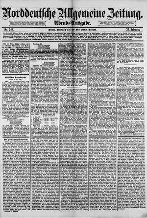 Norddeutsche allgemeine Zeitung vom 30.05.1883
