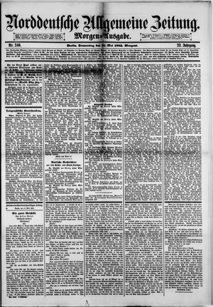 Norddeutsche allgemeine Zeitung vom 31.05.1883