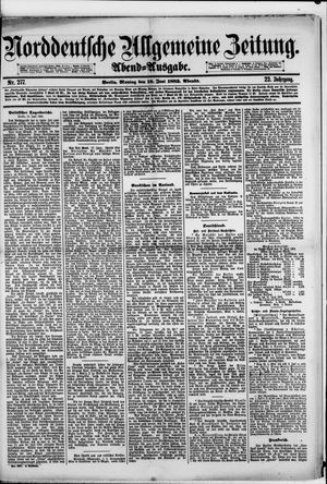 Norddeutsche allgemeine Zeitung vom 18.06.1883
