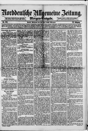 Norddeutsche allgemeine Zeitung vom 20.06.1883